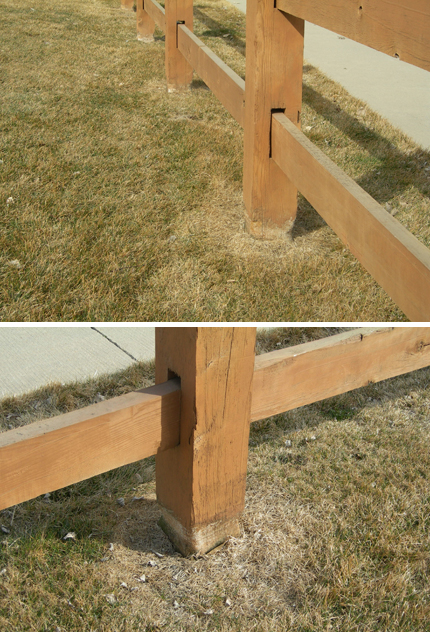 fence post damage from weed wacker