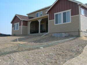 existing sloped backyard