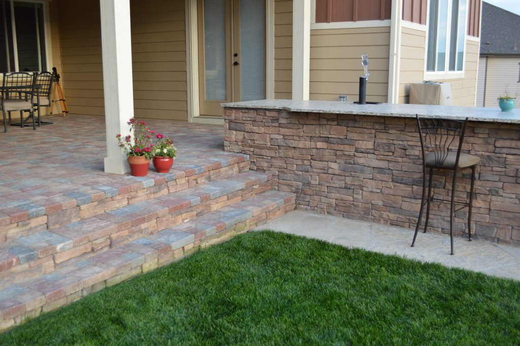 pavers were installed over existing patio